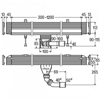 Sieninis dušo latakas Viega Advantix Vario 300-1200mm 3