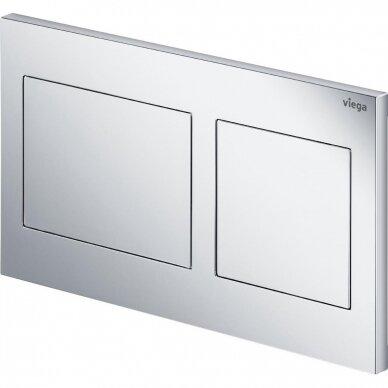 Viega Prevista WC rėmas su laikikliais ir chromuotu mygtuku 792596 4
