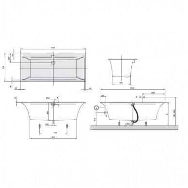 Villeroy&Boch vonia Squaro Edge 12 170x75cm 4