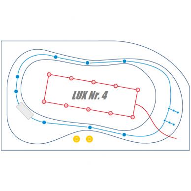 Vonios vandens ir oro masažo sistema LUX Nr. 4
